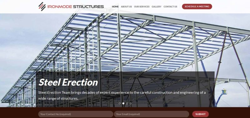 Construction Company Website Design Kochi Kerala for Ironmode Structures