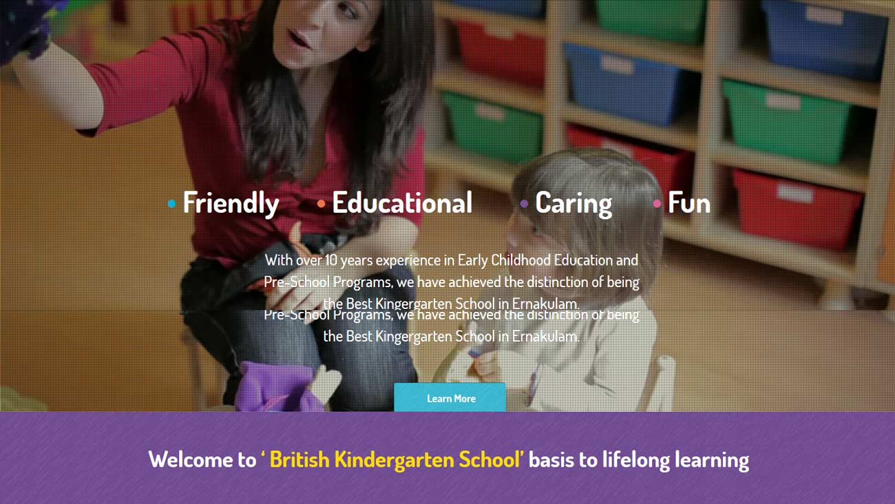 kindergarten school website design ernakulam